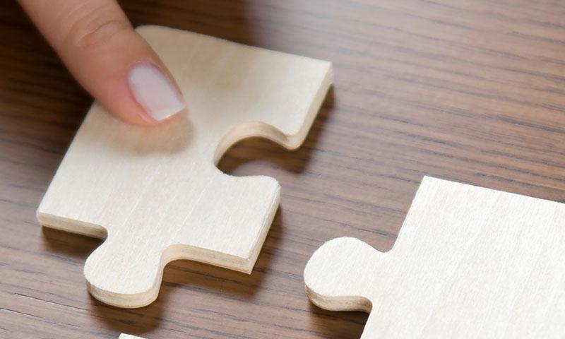 Holz Puzzleteile